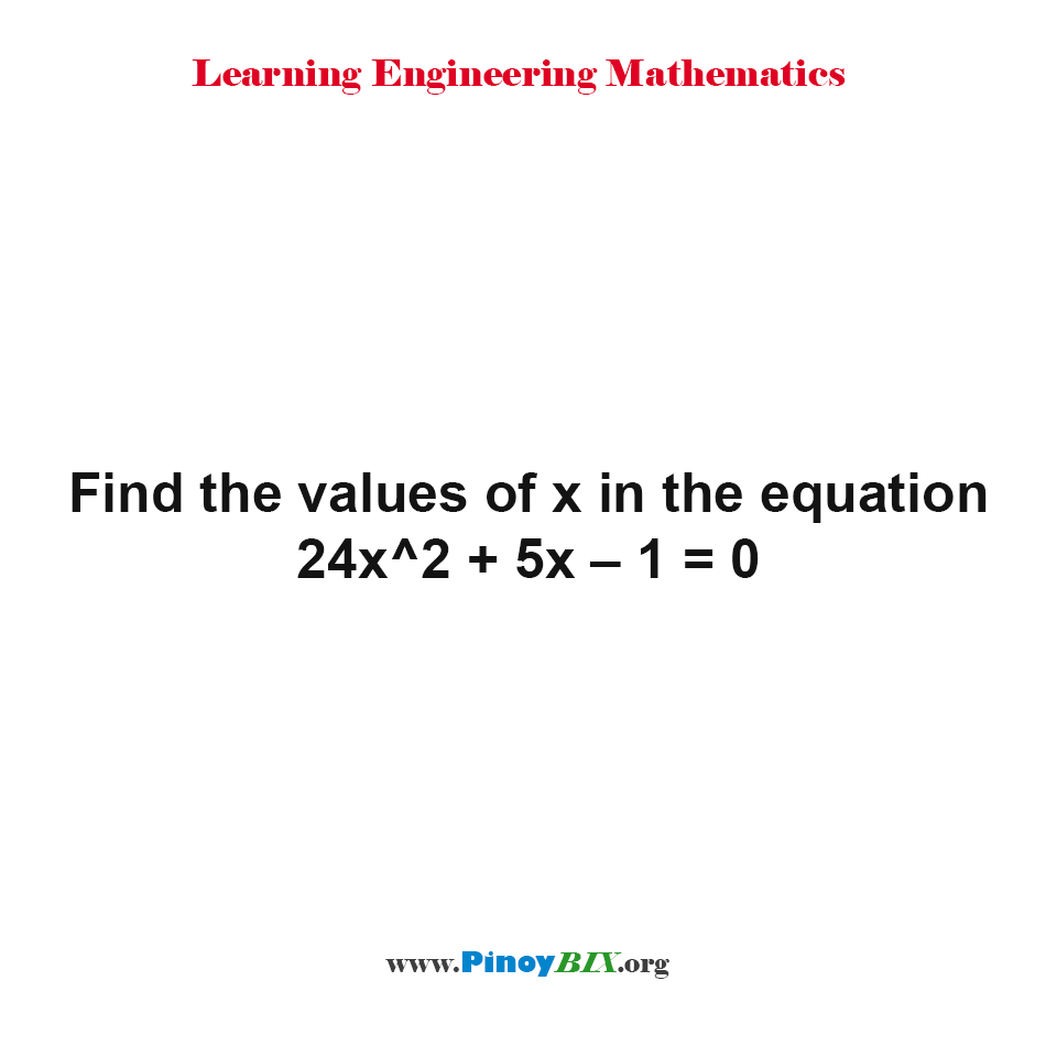 how to find the equation of values