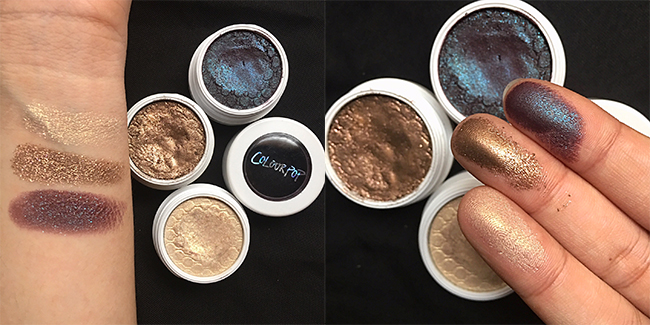 ColourPop Super Shock Shadows - Swatches Nillionaire Bae Juicy Apple