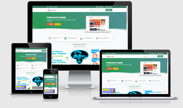 Goomsite AMP blogger template download