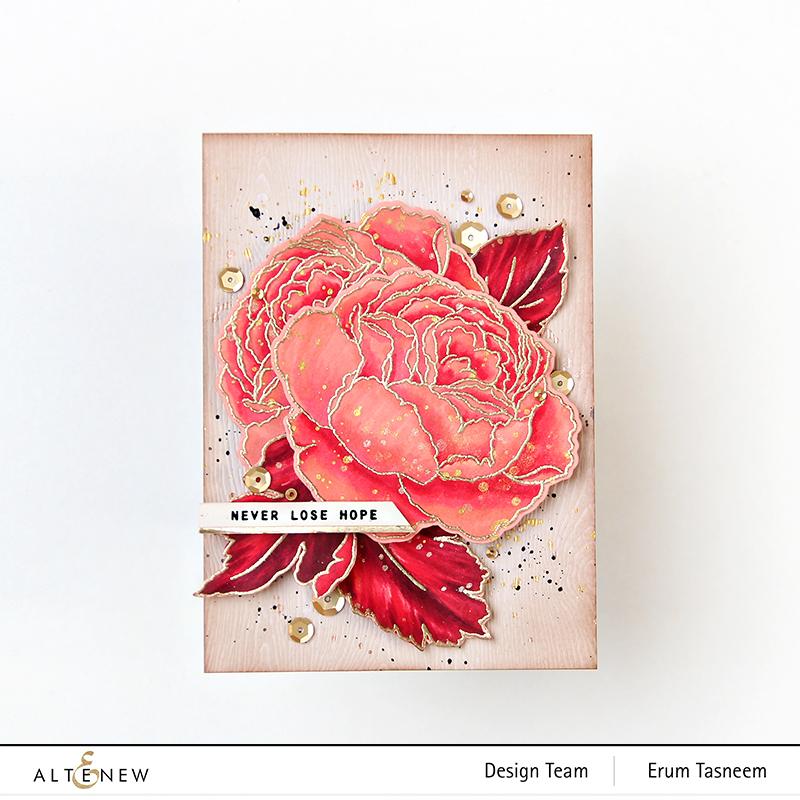 Altenew Tranquility Rose Stamp Set | Erum Tasneem | @pr0digy0
