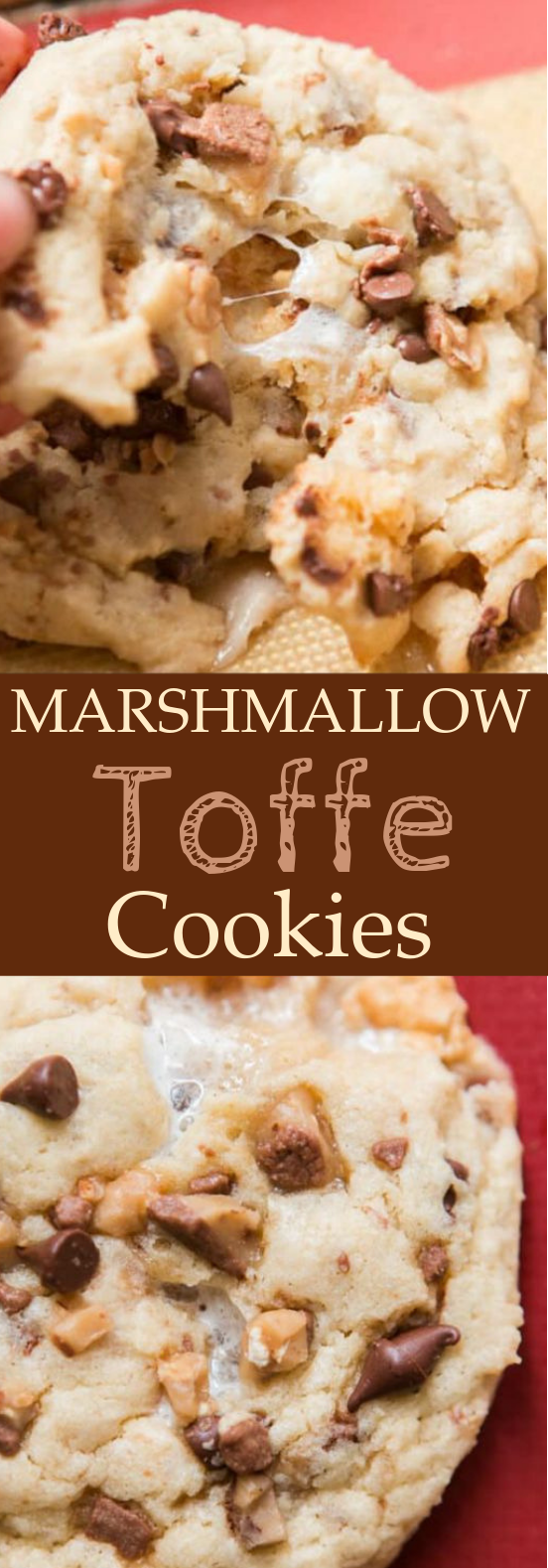 Marshmallow Toffee Cookies #cookies #desserts