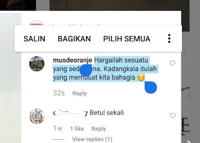 Cara Copy Paste Komentar Di Instagram Tanpa Aplikasi