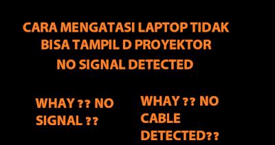 Cara membenarkan laptop yang tidak bisa tampil di proyektor