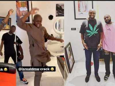 """""""Clear road for my Oga"""" – Isreal DMW jubilates as Davido lifts his suspension (Video)"""