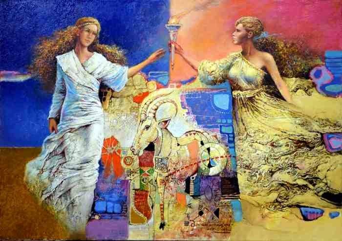 Сербский художник. Sandor Slajf