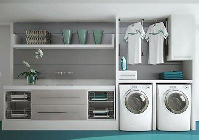 Construindo minha casa clean lavanderias lindas modernas for Diseno lavadero