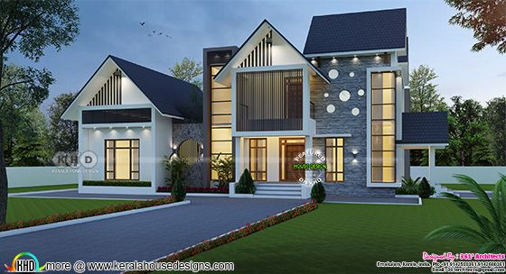 Two Faced European style 5 bedrooms house