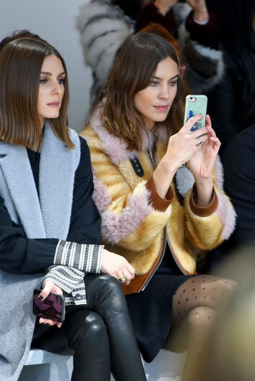 Olivia Palermo, and Alexa Chung attend the front row for Noon by Noor during New York Fashion Week