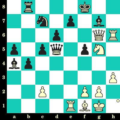 Les Blancs jouent et matent en 2 coups - Mikhail Tal vs Pal Benko, Bled, 1959