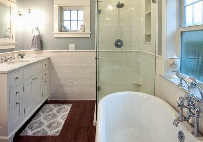 10 mod le salle de bain petit espace idee salle de bains - Exemple amenagement salle de bain ...