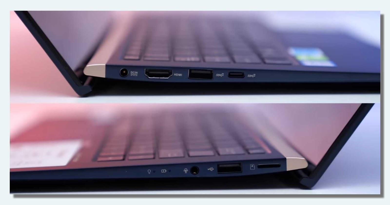 Asus ZenBook Port Konektivitas
