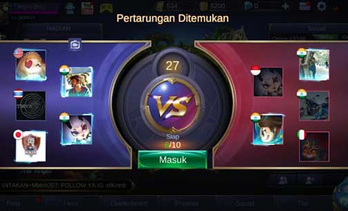 Cheat Mobile Legends Tanpa Root