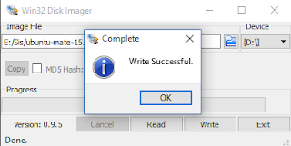 Membuat bootable USB flashdisk mengguankan win32 disk imager pada windows