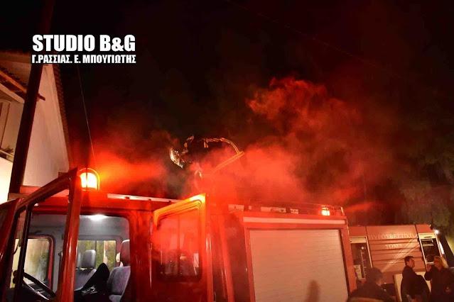 Πυρκαγιά σε σπίτι στην Τροιζήνα - Τραυματίας στο νοσοκομείο Άργους ο ιδιοκτήτης