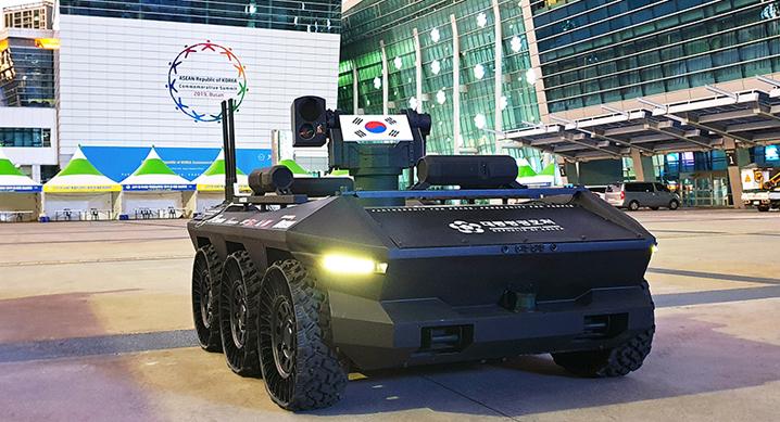 현대로템, 다목적 무인차량 'HR-Sherpa(HR-셰르파)' 공개