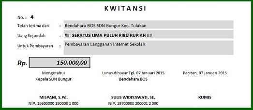 Kwitansi Excel