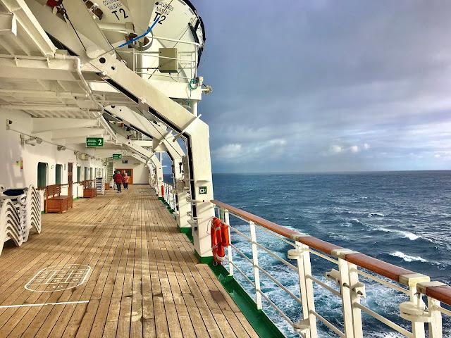 Cruise Ship Promenade Deck on a Sea Day