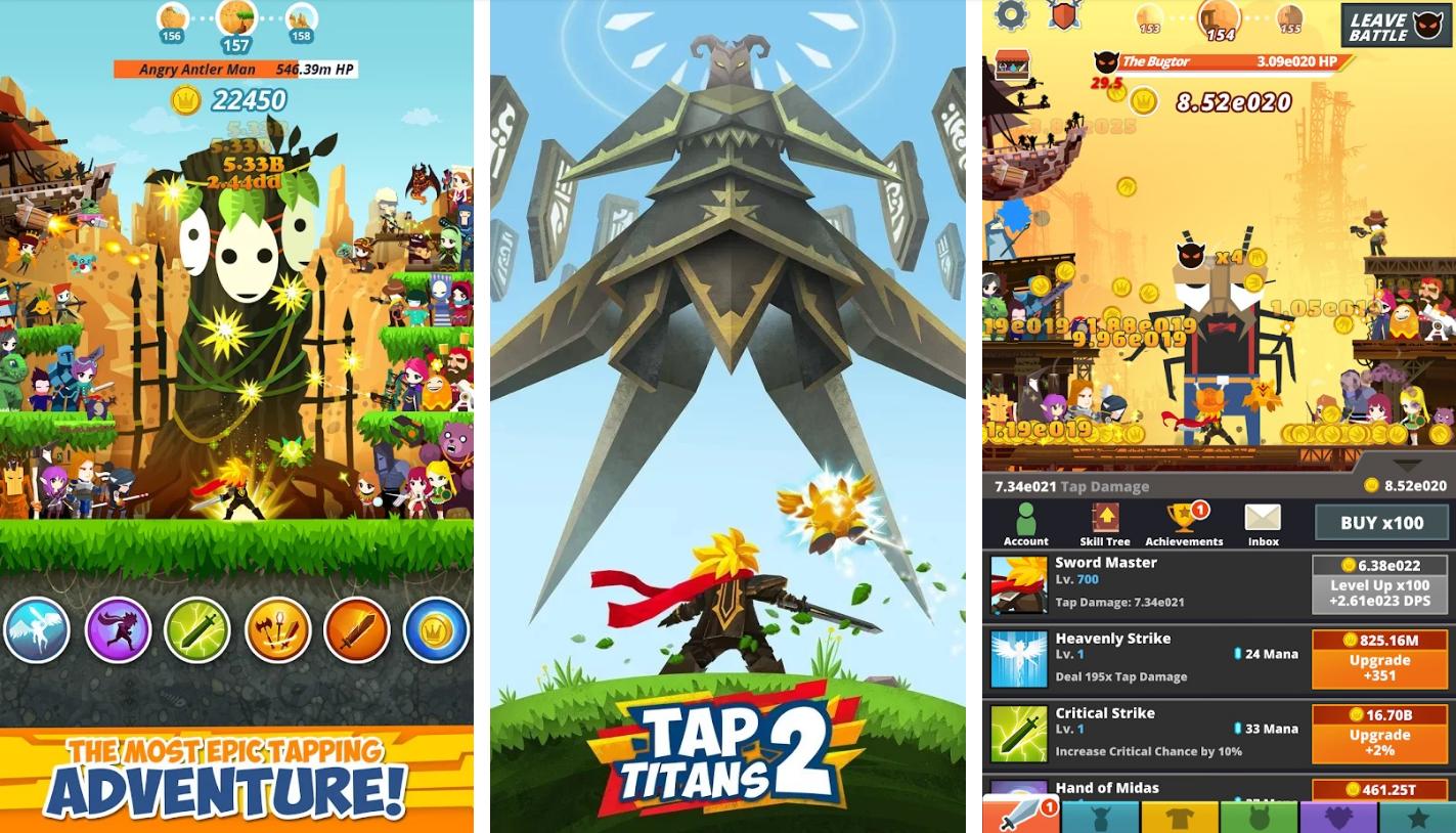 ملخص حول Tap Titans 2 اضغط جبابرة 2 المعركة مستمرة