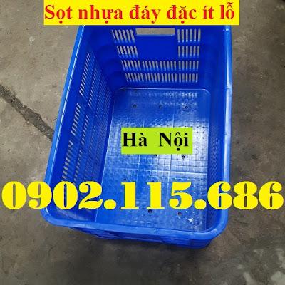 Sọt nhựa đáy đặc, rổ nhựa đáy đặc, sọt nhựa ít lỗ, thùng nhựa có lỗ, sọt nhựa công nghiệp, rổ nhựa công nghiệp, sọt nhựa HS012, rổ nhựa HS012, 4