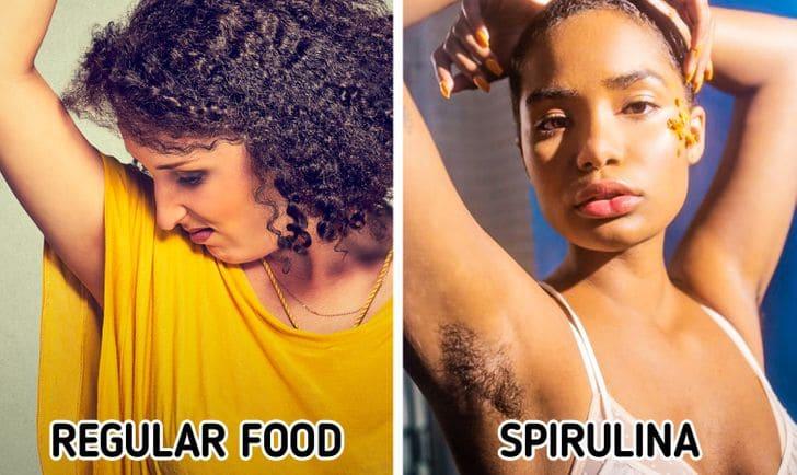 Spirulina membantu melawan bau badan