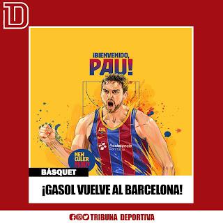 ¡GASOL VUELVE AL BARCELONA!