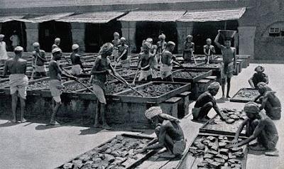 laborers working under british