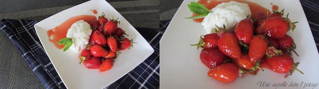 Poêlée de fraises de Plougastel