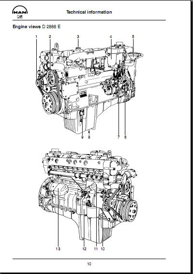 man ebook soft   service manual  man diesel engine d 2866