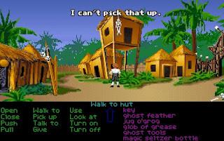 El poblado de los caníbales en Monkey Island