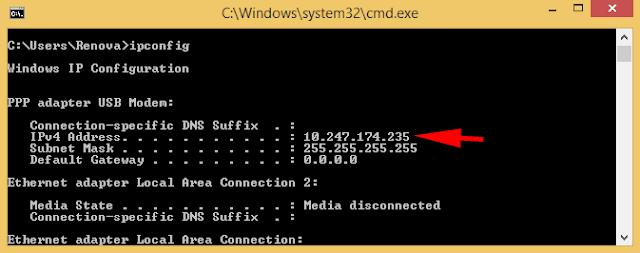 Cara Melihat IP Address