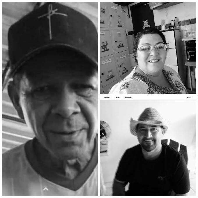 LUTO: PARENTES E AMIGOS LAMENTAM MORTES POR COVID-19 DE TRÊS PESSOAS NO PERÍODO DE 24 HORAS EM DELMIRO GOUVEIA; SERTÃO ALAGOANO