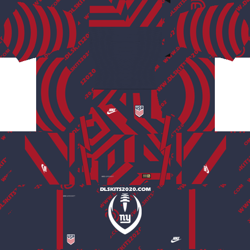 Kit Dream League Soccer 2019 of The United State USA 2022 Nike Kit (Away)