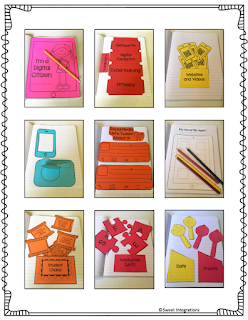 photo of digital citizenship INB templates