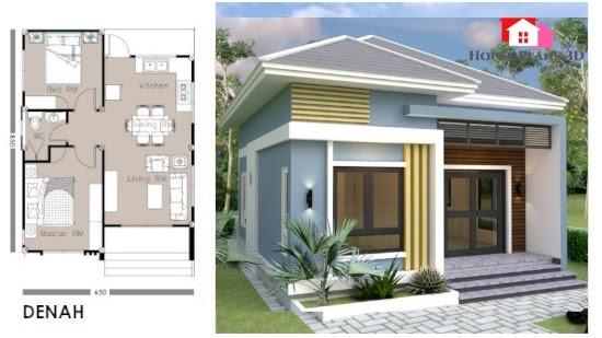 Lingkar Warna 9 Desain Inspiratif Rumah Minimalis 2 Kamar Tidur