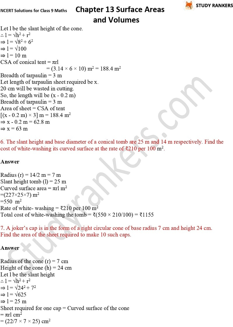 NCERT Solutions for Class 9 Maths Chapter 13 Surface Areas and Volumes Part 10