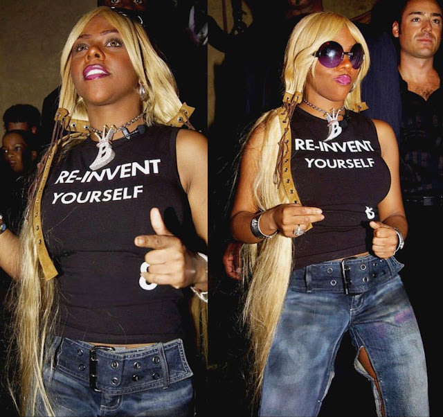 Re-Invent Yourself shirt as worn by Lil Kim. PYGear.com
