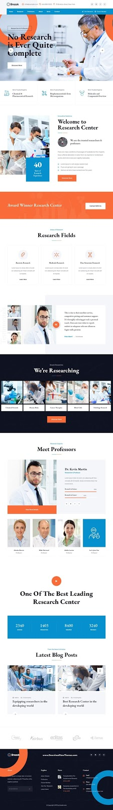 Researcher & Professors HTML Template