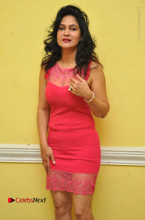 Telugu Actress Vijaya Murthy Stills in Red Short Dress at Www.Meena Bazaar Movie Opening  0003.JPG