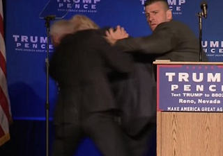 Donald Trump Is Rushed Away by Secret Service While Speaking During Reno Rally