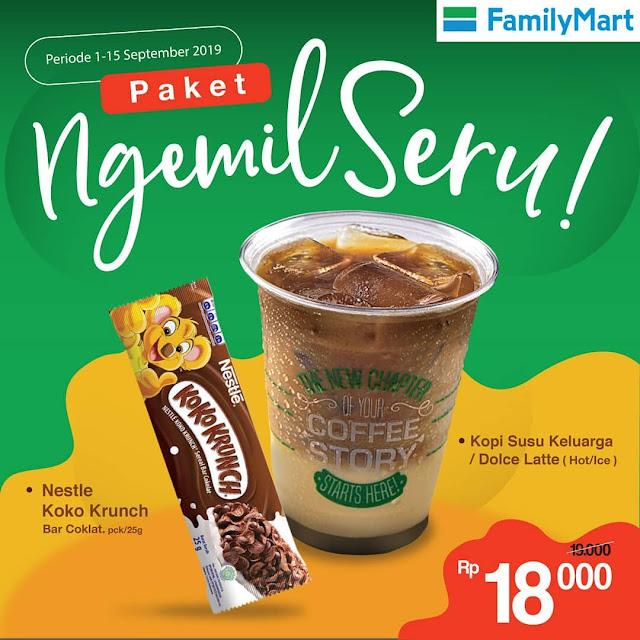 #FamilyMart - #Promo Paket Ngemil Seru Hanya 18K Periode 01 - 15 Sept 2019