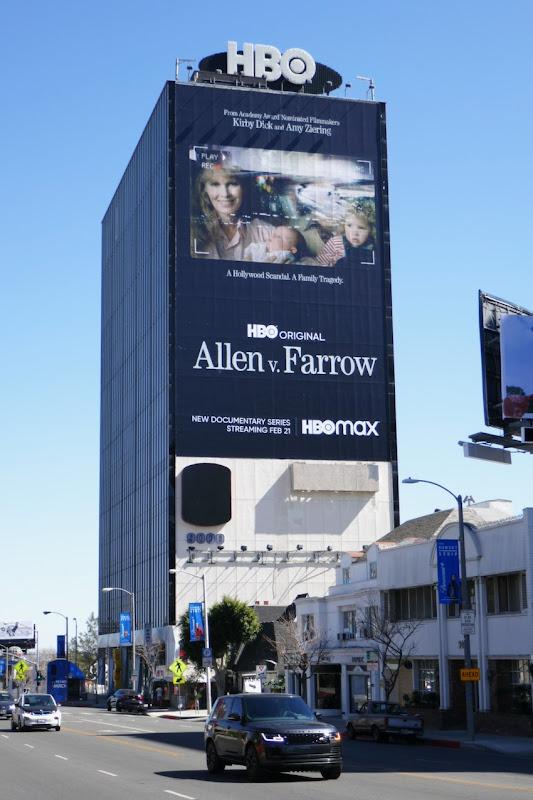 Giant Allen v Farrow series launch billboard