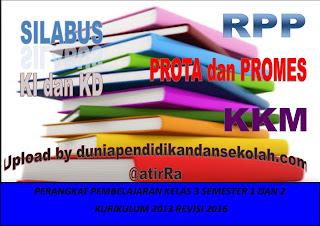 RPP Kelas 3 Kurikulum 2013 Revisi 2016 Semester 1 dan 2 Semua Tema, Kompetensi Dasar dan Silabus