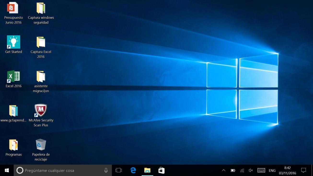 Cómo cambiar el espacio vació de iconos del escritorio en Windows 10