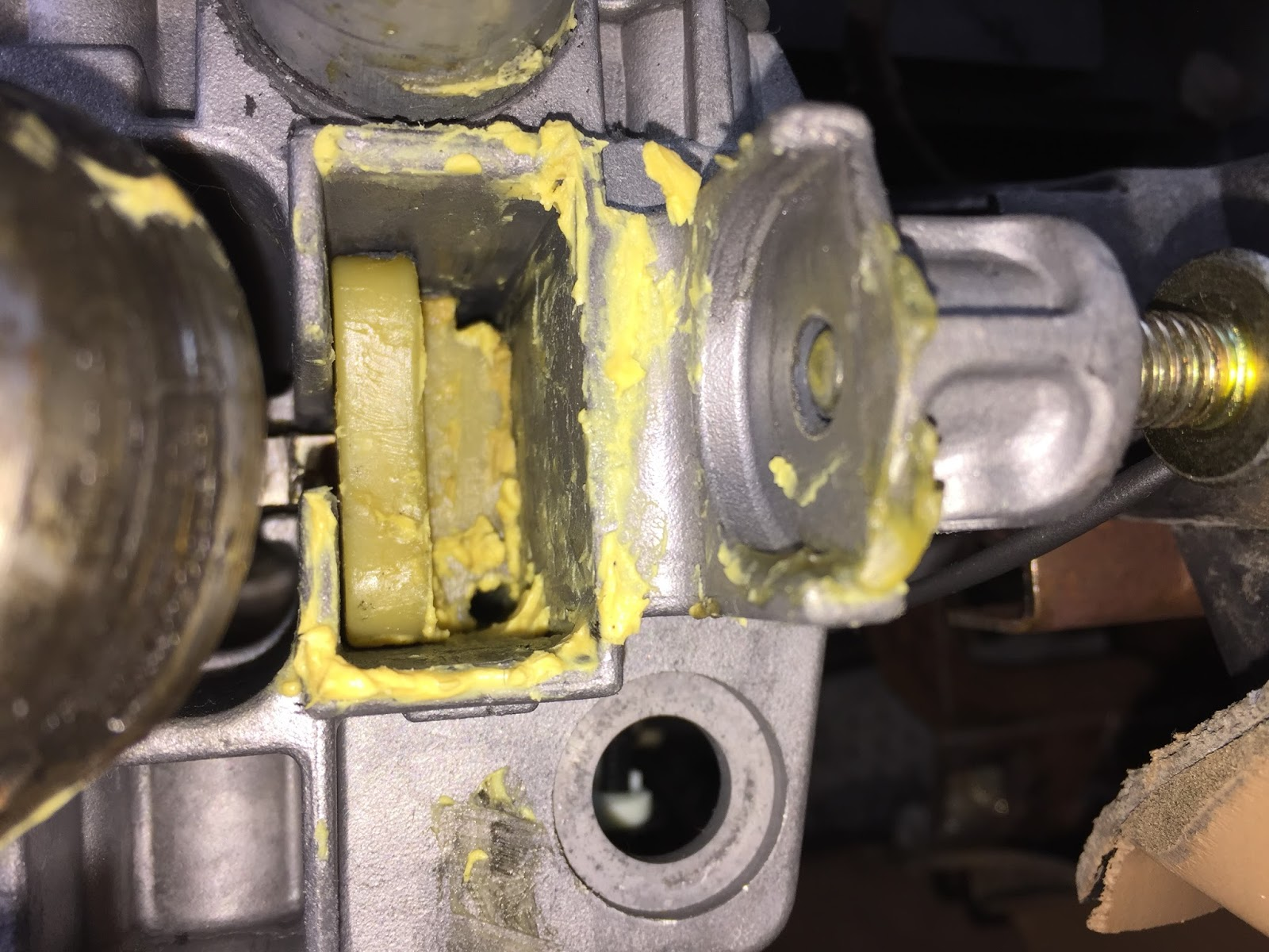 Re Installed The Upper Ignition Switch Actuator Rod Need To Get Some Lithium Grease And Pack That Into Housing