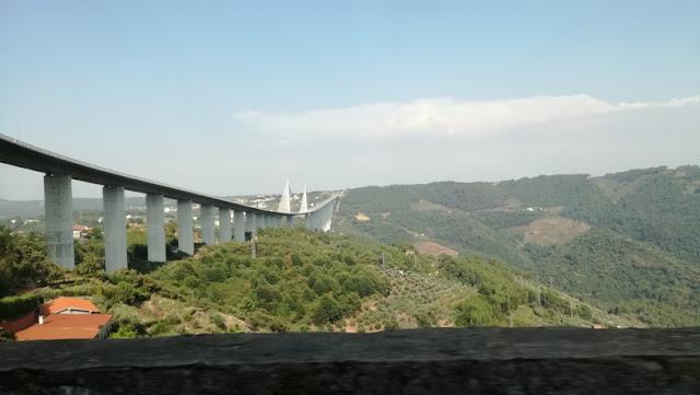 Ponte da A4 a chegar a Vila Real na N2