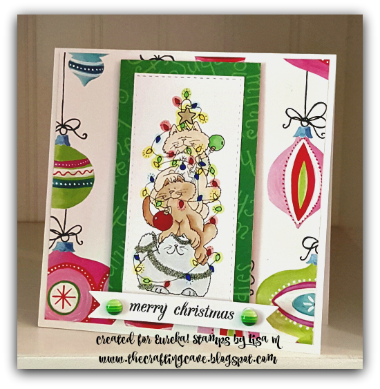 CREATED BY LISA IN THE CRAFTING CAVE EUREKA! STAMPS CAT-R-PILLAR ANYTHING GOES