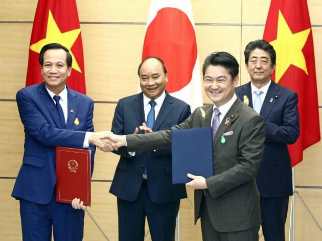 Việt Nam, Nhật Bản trao đổi biên bản hợp tác về tiếp nhận lao động kỹ năng đặc định