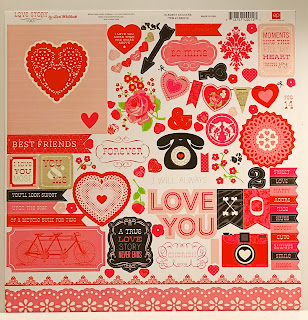 Echo Park LOVE STORY Collection kit paper used for Valentine Candy Box