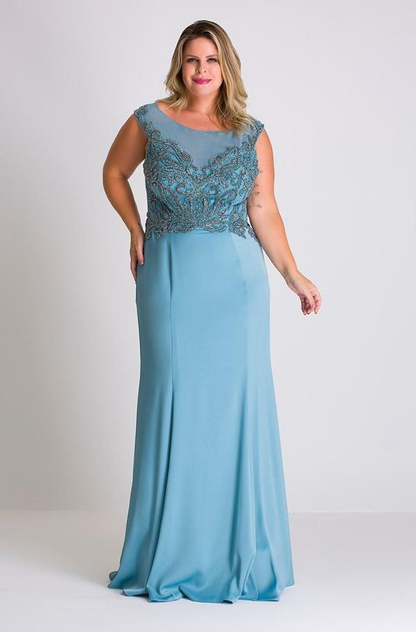 vestido longo azul serenity plus size para madrinha de casamento