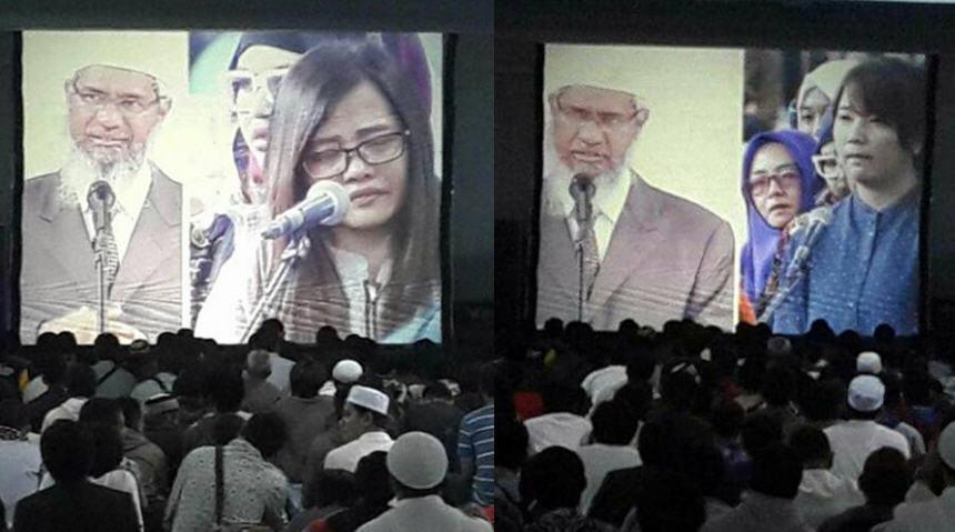 Begini Cara Zakir Naik Istimewakan Non-Muslim Saat Ceramah di UPI. 4 Orang Luluh dan Bersyahadat